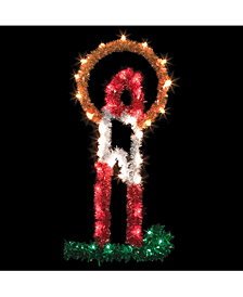 4' Metallic Candle Halo Commercial Pole Decoration With 40 LED Lights.