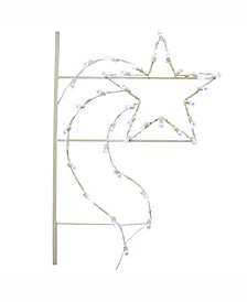 4' Designer Star Commercial Pole Decoration With 35 LED Lights.