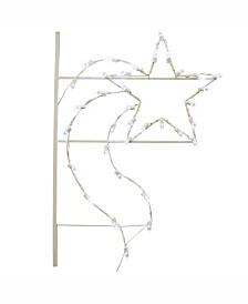 Vickerman 4' Designer Star Commercial Pole Decoration With 35 LED Lights.