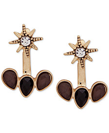 lonna & lilly Gold-Tone Crystal & Stone Star Jacket Earrings
