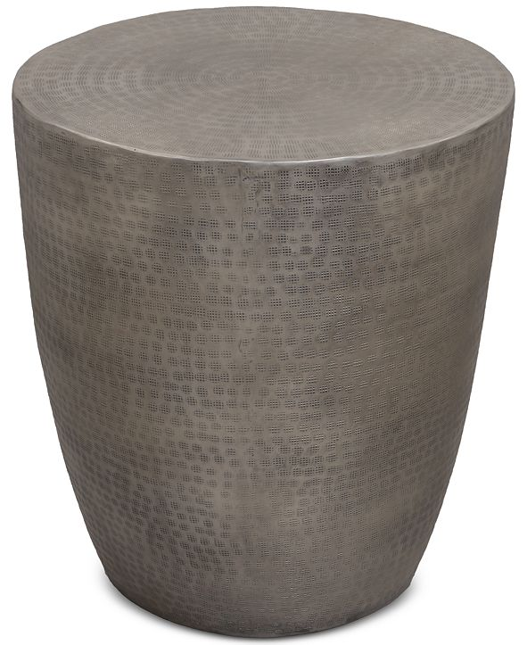 Furniture Nova Metal Drum End Table