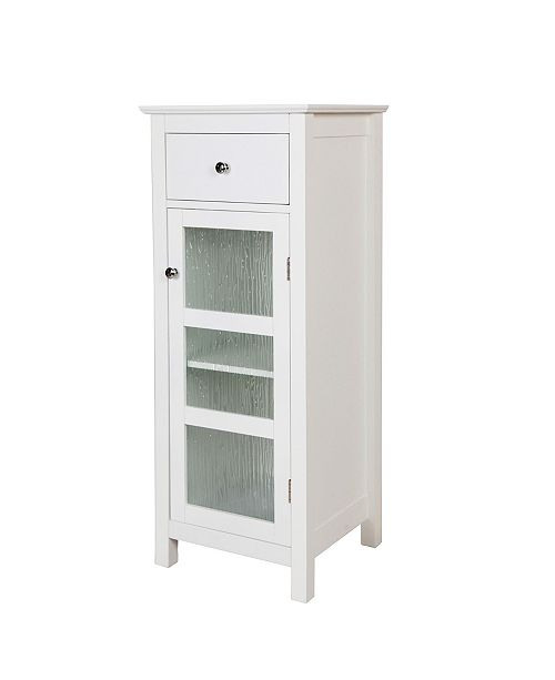 Elegant Home Fashions Connor Floor Cabinet with 1 Door and 1 Drawer