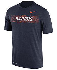 Nike Men's Illinois Fighting Illini Legend Staff Sideline T-Shirt