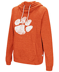 Colosseum Women's Clemson Tigers Speckled Fleece Hooded Sweatshirt
