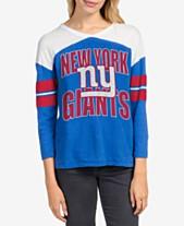 02518f6204 Junk Food Women's New York Giants Liberty Throwback Raglan T-Shirt
