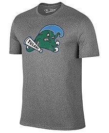 Retro Brand Men's Tulane Green Wave Alt Logo Dual Blend T-Shirt