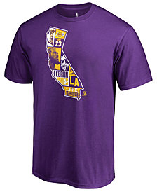 Majestic Men's LeBron James Los Angeles Lakers Player State T-Shirt