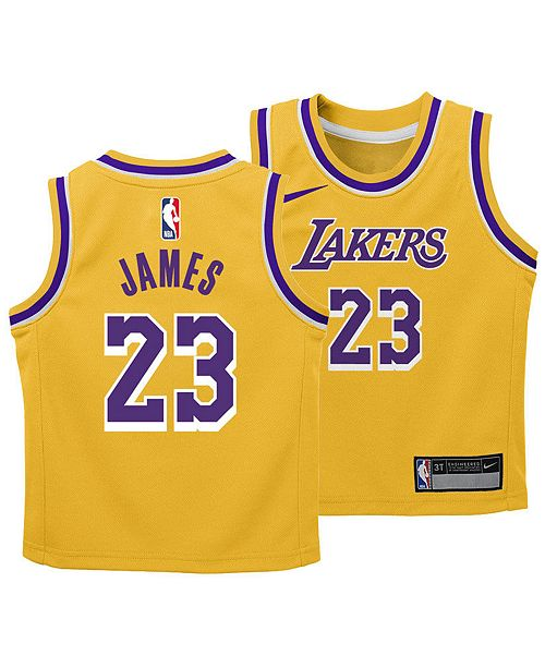 9958d41da ... Nike LeBron James Los Angeles Lakers Icon Replica Jersey, Infants  (12-24 Months ...