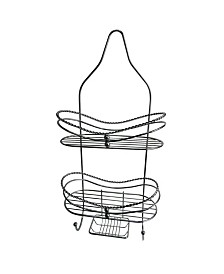 Curved Shower Caddy with Soap Tray