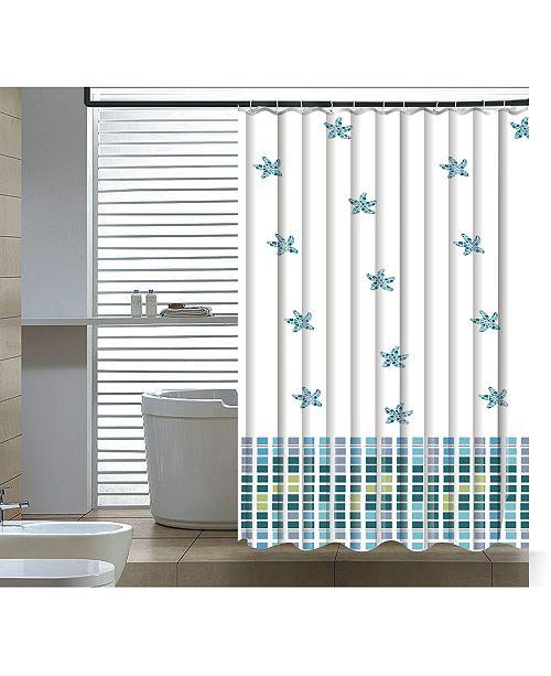 Elegant Home Fashions Seashore Shower Curtain