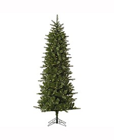 9' Carolina Pencil Spruce Artificial Christmas Tree with 500 Warm White LED Lights