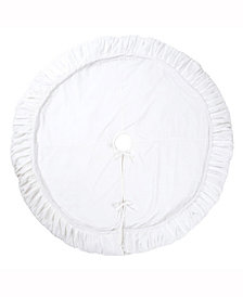 "Vickerman 84"" plush white velvet tree skirt"