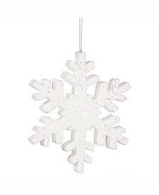 "Vickerman 24"" White Glitter Snowflake Christmas Ornament"