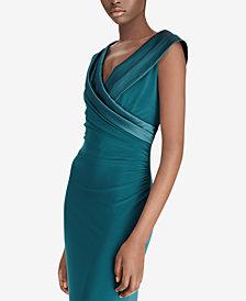 Lauren Ralph Lauren Satin-Neckline Gown