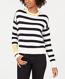 Freshman Juniors' Contrast Striped Sweater