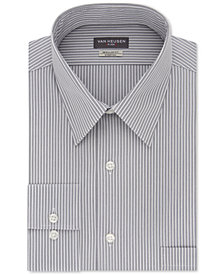 Van Heusen Men's Classic/Regular Fit Flex Collar Stretch Gray Stripe Dress Shirt