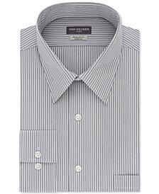 Van Heusen Men's Classic/Regular Fit Flex Collar Stretch Gray Stripe Dress Shirt
