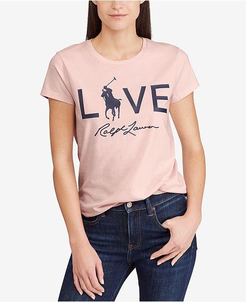 Polo Ralph Lauren Pink Pony Graphic Cotton T-Shirt