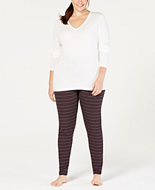 Plus Size Softwear V-Neck Top & Leggings