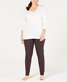 Cuddl Duds Plus Size Softwear V-Neck Top & Leggings
