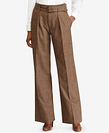 Polo Ralph Lauren Tweed Wide-Leg Pants