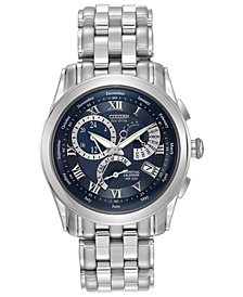 LIMITED EDITION. Citizen Men's Eco-Drive Stainless Steel Bracelet Watch 39mm BL8000-54L, Created for Macy's - A Limited Edition