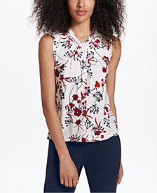 Tommy Hilfiger Printed Knot-Neck Shell