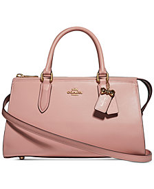 COACH Selena Gomez  Refined Calf Leather Medium Satchel