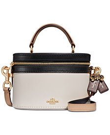 COACH Selena Gomez Leather Top-Handle Crossbody