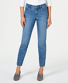 Charter Club Tummy-Control Ankle-Length Skinny Jeans, Created for Macy's