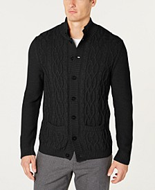 Men's Cable Knit Cardigan, Created for Macy's
