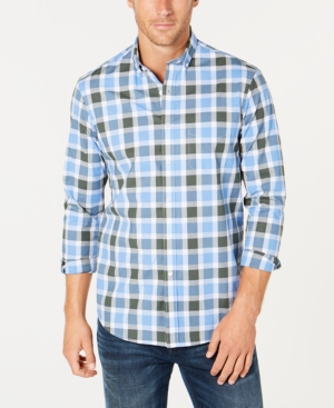 Club Room Men's Archer Plaid Performance Shirt, Created for Macy's