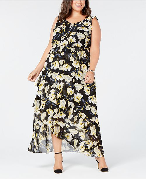 INC International Concepts I.N.C. Plus Size High-Low Maxi Dress ...