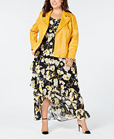 I.N.C. Plus Size Moto Jacket & Maxi Dress, Created for Macy's