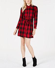 Maison Jules Plaid Shirtdress, Created for Macy's