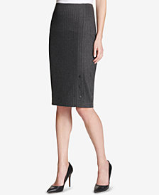Tommy Hilfiger Pinstriped Pencil Skirt
