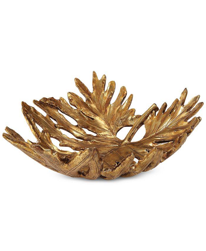 Uttermost - Oak Leaf Metallic Gold Bowl