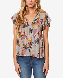 O'Neill Juniors' Juniper Printed Cutout Top