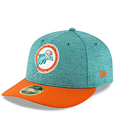 New Era Miami Dolphins On Field Low Profile Sideline Home 59FIFTY FITTED Cap
