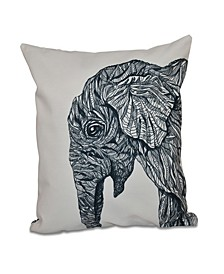 16 Inch Black Decorative Safari Throw Pillow