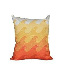 Deep Sea 16 Inch Yellow and Orange Decorative Nautical Throw Pillow