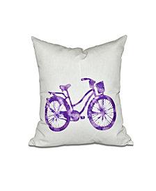 Life Cycle 16 Inch Purple Decorative Geometric Throw Pillow