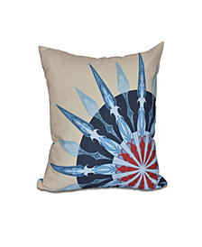 Sailor's Delight 16 Inch Taupe Decorative Nautical Throw Pillow