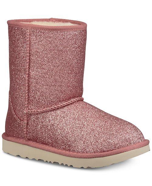 7532563b579 UGG® Kids' Classic Short II Glitter Boots & Reviews - Boots - Shoes ...