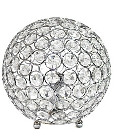Elegant Designs Crystal Ball Sequin Table Lamp