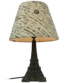 Simple Designs Eiffel Tower Paris Lamp with Shade