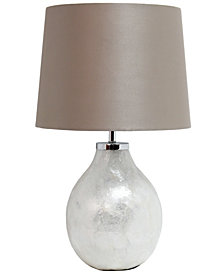 Simple Designs 1 Light Pearl Table Lamp with Fabric Shade