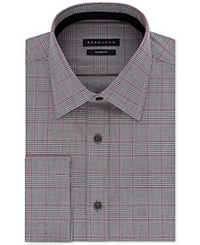 Sean John Big and Tall Check French Cuff Dress Shirt