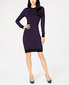 MICHAEL Michael Kors Petite Printed Sweater Dress