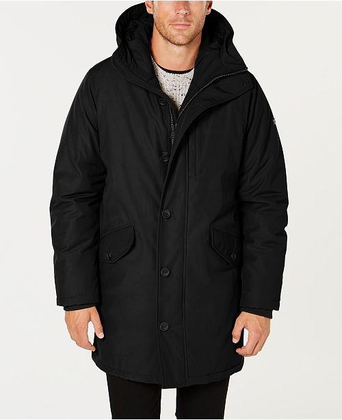 cea774cb7 Michael Kors Men s Modern-Fit Hooded All Weather Anorak Raincoat ...